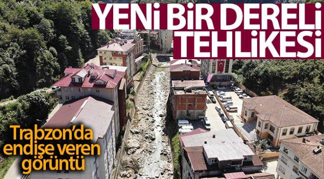 Trabzon'un Köprübaşı ilçesi şiddetli bir yağışta tıpkı Giresun'un Dereli ilçesi gibi sel riski taşıyor