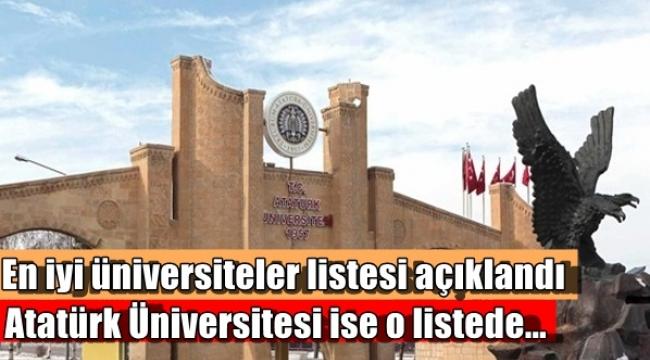En iyi üniversiteler listesi açıklandı Atatürk üniversitesi ise o listede...