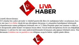Liva Haber artık sizlerle...