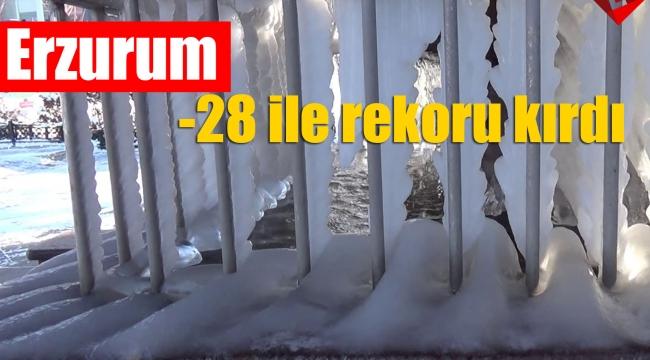 Erzurum -28 ile rekoru kırdı