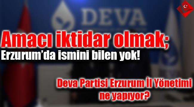 Amacı iktidar olmak; Erzurum'da ismini bilen yok! Deva Partisi Erzurum İl Yönetimi ne yapıyor?