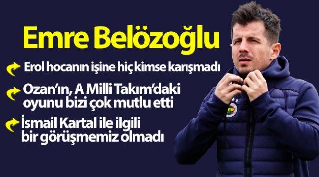 Emre Belözoğlu: 'Hem zekamı hem kalbimi sahaya koyacağım'