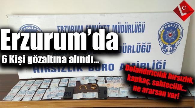 Suçları inanılır gibi değil! Erzurum'da gözaltına alınan 10 kişiden 6'sı tutuklandı...