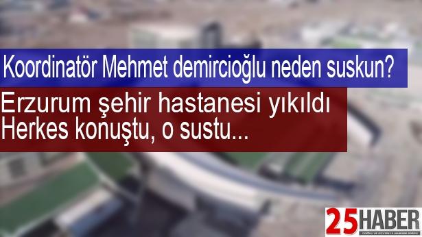 Erzurum Şehir Hastanesi çöktü Herkes konuştu, o sustu..
